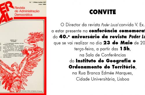 Conferência 40 anos da revista Poder Local